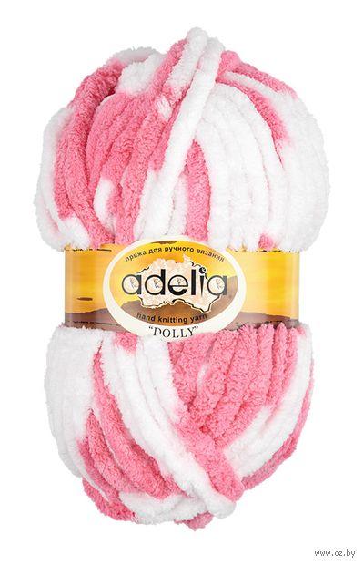 "Пряжа ""Adelia. Dolly №16"" (100 г; 40 м; бело-розовый) — фото, картинка"