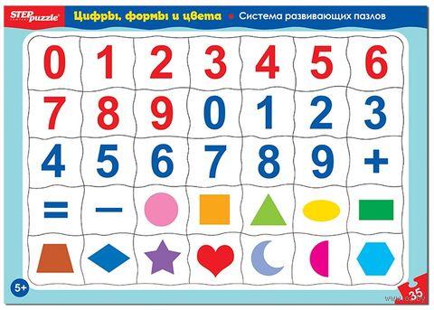"""Пазл """"Цифры, формы и цвета"""" (35 элементов) — фото, картинка"""