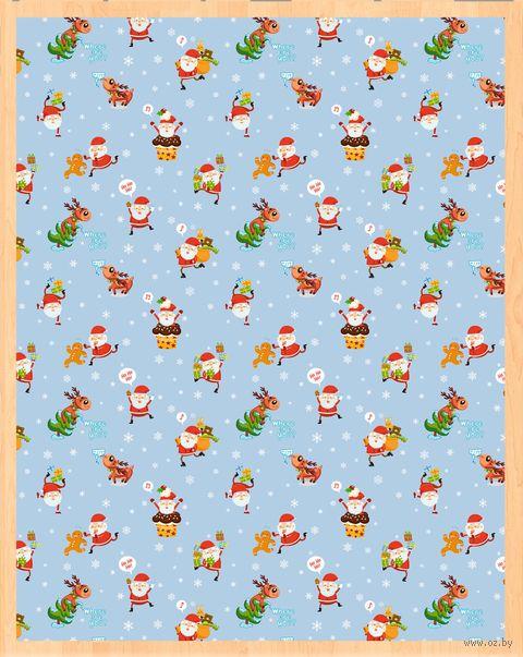 "Простыня хлопковая ""Merry Christmas №2"" (220х145 см) — фото, картинка"