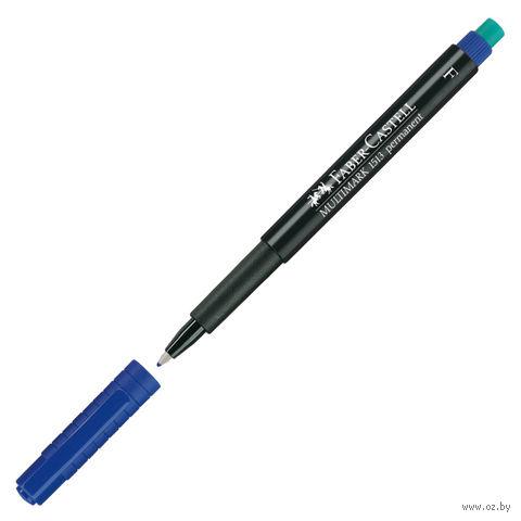 """Маркер перманентный """"Multimark"""" с ластиком (синий; толщина письма: 0,6 мм)"""