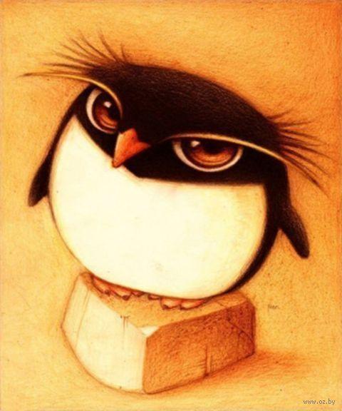 """Алмазная вышивка-мозаика """"Пингвин"""" (250х300 мм) — фото, картинка"""