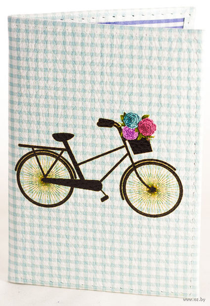 """Обложка на паспорт """"Велосипед"""""""