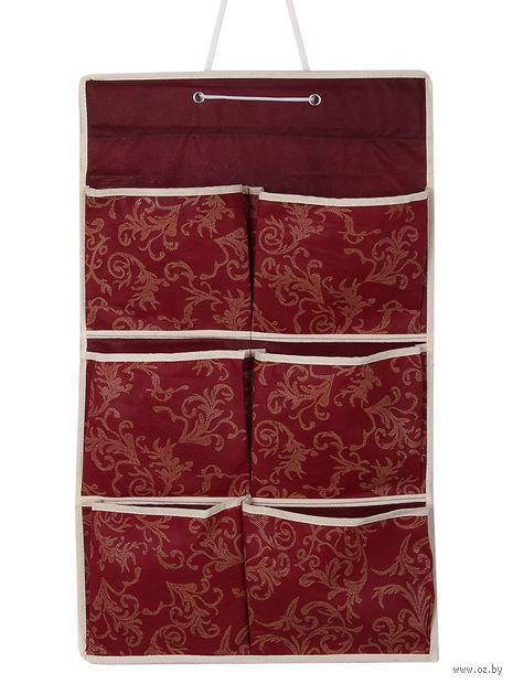 Органайзер для мелочей (6 ячеек; красный) — фото, картинка