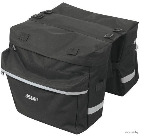 """Сумка велосипедная на багажник """"Double"""" (чёрная; арт. 89635) — фото, картинка"""
