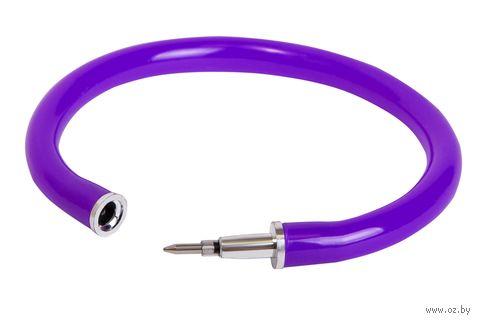 """Ручка шариковая синяя """"Браслет"""" (0,7 мм; фиолетовый корпус) — фото, картинка"""
