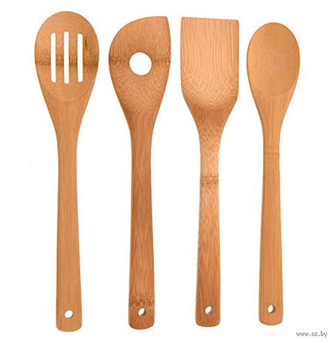 Набор кухонных инструментов деревянных (4 шт.; 30 см)