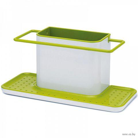 """Органайзер для раковины большой """"Caddy"""" (бело-зеленый) — фото, картинка"""