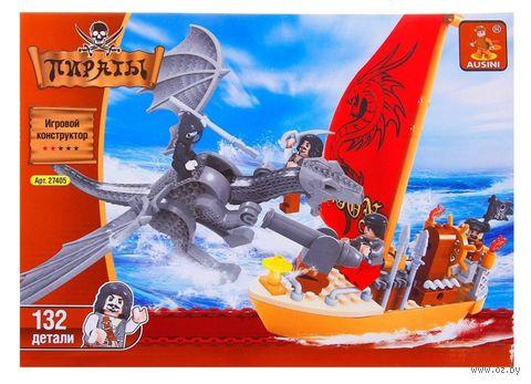 """Конструктор """"Пираты. Пираты и дракон"""" (132 детали)"""