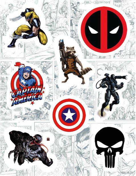 "Набор виниловых наклеек №130 ""Marvel"""