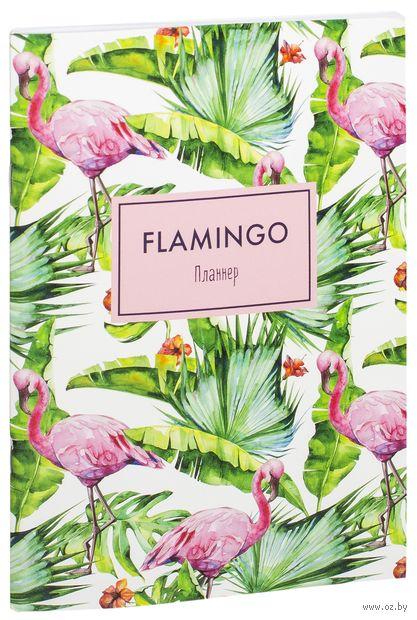 "Блокнот-планнер ""Mindfulness. Фламинго"" (182x255 мм) — фото, картинка"