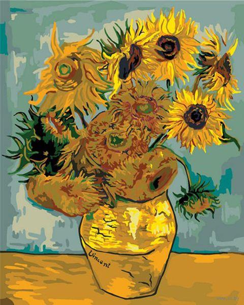 """Картина по номерам """"Ван Гог. Подсолнухи"""" (400х500 мм) — фото, картинка"""