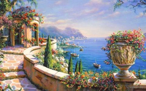 """Алмазная вышивка-мозаика """"Итальянская веранда"""" (800х500 мм) — фото, картинка"""