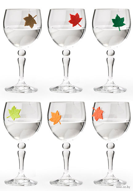 "Маркеры для бокалов ""Leaf My Glass"" (6 шт.)"