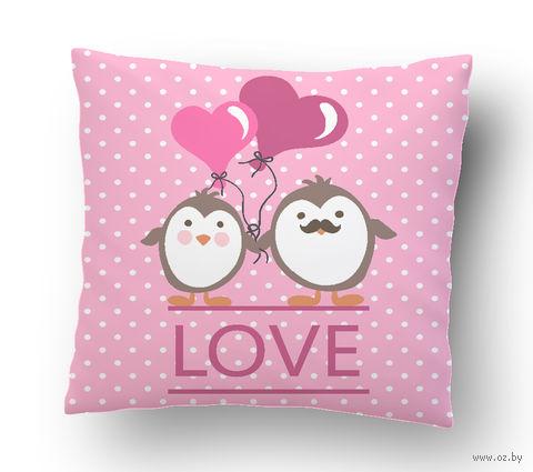 """Подушка маленькая """"Love"""" (art. 16; 15x15 см)"""