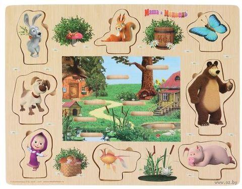"""Рамка-вкладыш """"Маша и Медведь"""" — фото, картинка"""