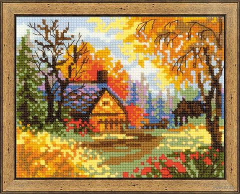 """Вышивка крестом """"Деревенский пейзаж. Осень"""" (арт. 1325)"""
