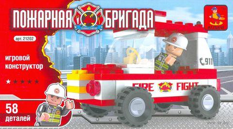 """Конструктор """"Пожарная бригада. Пожарный джип"""" (58 деталей)"""