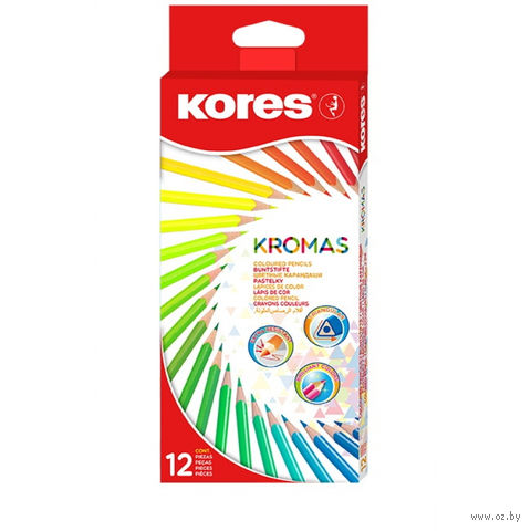 """Набор карандашей цветных """"Kores Kromas"""" (12 цветов) — фото, картинка"""