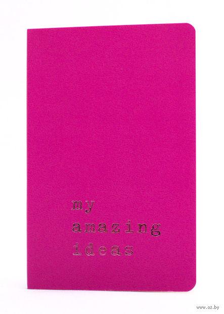 """Записная книжка Молескин """"Volant. My Amazing Ideas"""" нелинованная (карманная; мягкая темно-розовая обложка)"""