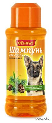 """Шампунь """"Amstrel"""" для собак (320 мл; с маслом чайного дерева и кедровым маслом) — фото, картинка"""