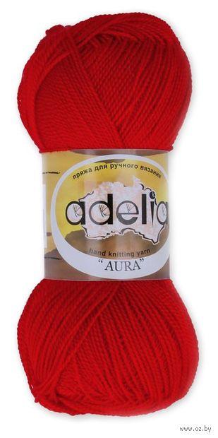 """Пряжа """"Adelia. Aura №38"""" (50 г; 250 м; красный) — фото, картинка"""